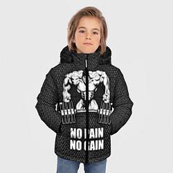 Куртка зимняя для мальчика No pain, no gain цвета 3D-черный — фото 2