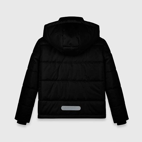 Зимняя куртка для мальчика Есенин Ч/Б / 3D-Черный – фото 2