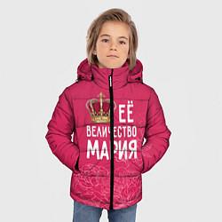 Куртка зимняя для мальчика Её величество Мария цвета 3D-черный — фото 2