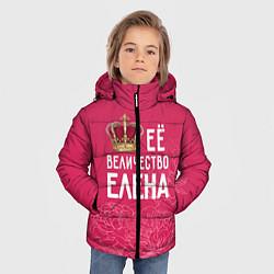 Куртка зимняя для мальчика Её величество Елена цвета 3D-черный — фото 2