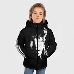 Куртка зимняя для мальчика Цой с сигаретой цвета 3D-черный — фото 2
