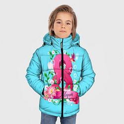 Куртка зимняя для мальчика Восьмерка и колибри цвета 3D-черный — фото 2
