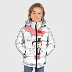 Куртка зимняя для мальчика Молодожены на шаре цвета 3D-черный — фото 2