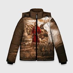 Куртка зимняя для мальчика Русь священная цвета 3D-черный — фото 1