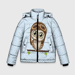 Куртка зимняя для мальчика Сова пилот цвета 3D-черный — фото 1