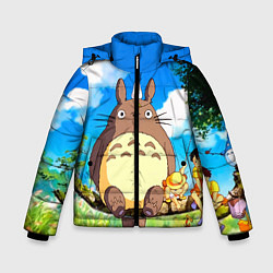 Куртка зимняя для мальчика Тоторо и компания цвета 3D-черный — фото 1