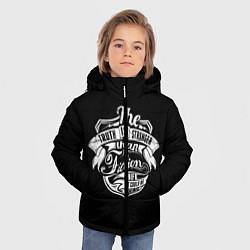 Детская зимняя куртка для мальчика с принтом The Truth Is Stranger, цвет: 3D-черный, артикул: 10088594006063 — фото 2