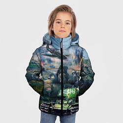 Куртка зимняя для мальчика За родину цвета 3D-черный — фото 2