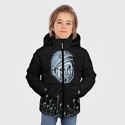 Куртка зимняя для мальчика Гагарин в небе цвета 3D-черный — фото 2
