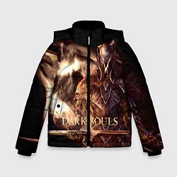 Куртка зимняя для мальчика Dark Souls цвета 3D-черный — фото 1