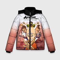 Куртка зимняя для мальчика Avatar: The last airbender цвета 3D-черный — фото 1