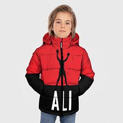 Куртка зимняя для мальчика Ali Boxing цвета 3D-черный — фото 2
