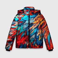 Куртка зимняя для мальчика Перья цвета 3D-черный — фото 1