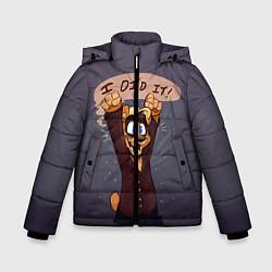 Детская зимняя куртка для мальчика с принтом Five Nights: I Did It, цвет: 3D-черный, артикул: 10093561106063 — фото 1