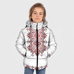 Куртка зимняя для мальчика Вышивка 41 цвета 3D-черный — фото 2