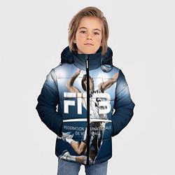 Куртка зимняя для мальчика Волейбол 4 цвета 3D-черный — фото 2