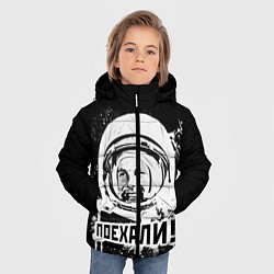 Детская зимняя куртка для мальчика с принтом Поехали!, цвет: 3D-черный, артикул: 10095768506063 — фото 2
