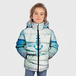 Куртка зимняя для мальчика I love sea цвета 3D-черный — фото 2