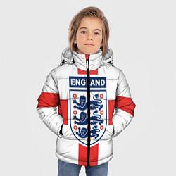 Куртка зимняя для мальчика Сборная Англии цвета 3D-черный — фото 2