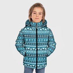 Куртка зимняя для мальчика Винтажный орнамент цвета 3D-черный — фото 2