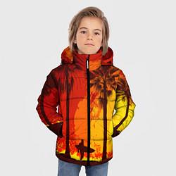 Куртка зимняя для мальчика Summer Surf цвета 3D-черный — фото 2