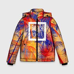 Детская зимняя куртка для мальчика с принтом Beach Party, цвет: 3D-черный, артикул: 10096481606063 — фото 1