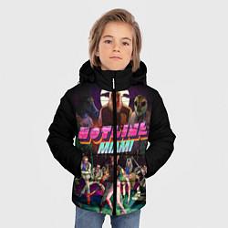 Куртка зимняя для мальчика Hotline Miami цвета 3D-черный — фото 2