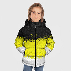 Детская зимняя куртка для мальчика с принтом Имперский флаг 1858 года, цвет: 3D-черный, артикул: 10097511506063 — фото 2