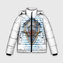 Детская зимняя куртка для мальчика с принтом ВДВ, цвет: 3D-черный, артикул: 10099218506063 — фото 1
