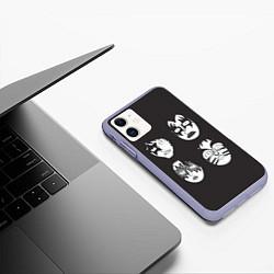 Чехол iPhone 11 матовый KISS Mask цвета 3D-светло-сиреневый — фото 2