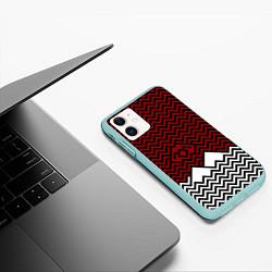 Чехол iPhone 11 матовый Твин Пикс: Минимализм цвета 3D-мятный — фото 2