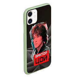 Чехол iPhone 11 матовый Виктор Цой цвета 3D-салатовый — фото 2