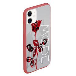 Чехол iPhone 11 матовый Depeche Mode: Red Rose цвета 3D-красный — фото 2
