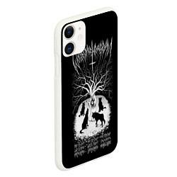 Чехол iPhone 11 матовый Wolves in the Throne Room цвета 3D-белый — фото 2