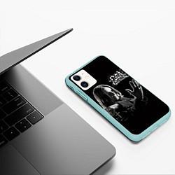 Чехол iPhone 11 матовый Оззи Осборн цвета 3D-мятный — фото 2
