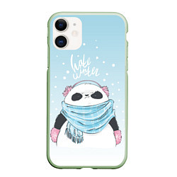 Чехол iPhone 11 матовый Hate Winter цвета 3D-салатовый — фото 1