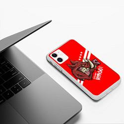 Чехол iPhone 11 матовый Кто мы? Мясо! цвета 3D-белый — фото 2