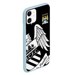 Чехол iPhone 11 матовый FC Manchester City: Exclusive цвета 3D-голубой — фото 2