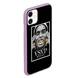 Чехол iPhone 11 матовый ASAP Rocky: Gold Edition цвета 3D-сиреневый — фото 2