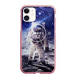 Чехол iPhone 11 матовый Starfield: Astronaut цвета 3D-баблгам — фото 1