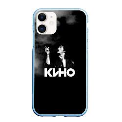 Чехол iPhone 11 матовый Кино цвета 3D-голубой — фото 1