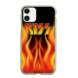 Чехол iPhone 11 матовый KISS цвета 3D-салатовый — фото 1