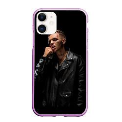 Чехол iPhone 11 матовый Элджей цвета 3D-сиреневый — фото 1