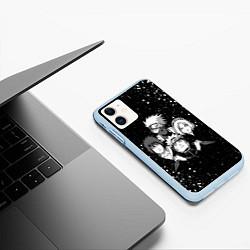 Чехол iPhone 11 матовый НАРУТО цвета 3D-голубой — фото 2