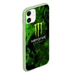 Чехол для iPhone 11 матовый с принтом MONSTER ENERGY, цвет: 3D-салатовый, артикул: 10237996505889 — фото 2