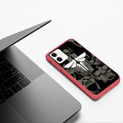 Чехол iPhone 11 матовый The Last of Us 2 цвета 3D-красный — фото 2
