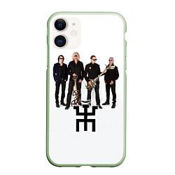 Чехол iPhone 11 матовый Группа Пикник цвета 3D-салатовый — фото 1