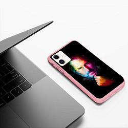 Чехол iPhone 11 матовый Стив Джобс цвета 3D-баблгам — фото 2