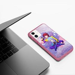 Чехол iPhone 11 матовый No Game No Life цвета 3D-малиновый — фото 2