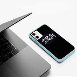 Чехол iPhone 11 матовый No Game No Life лого цвета 3D-мятный — фото 2